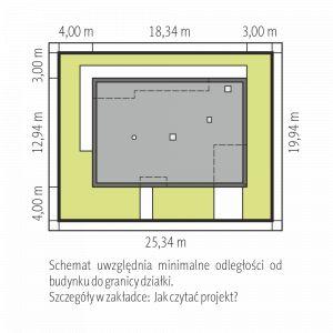Nazwa projektu: Mini 4 G1 Modern/pracownia Archipelag. Usadowienie na działce