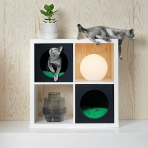 Kolekcja mebli dla zwierząt Lurvig firmy IKEA. Fot. IKEA, kolekcja niedostępna obecnie w Polsce