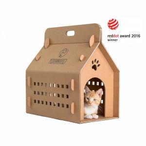 Kontener i domek dla kota w jednym. Nagrodzony Red Dotem! Nada się także dla innych małych zwierząt (jeże, chomiki, świnki morskie, kurczaki, małe psy).  35 zł/Cosy&Dozy. Fot. Cosy&Dozy