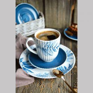 Kubek Daisy Blue z pięknym kwiatowym motywem. Cena: 14 zł/szt. Fot. Porcelana Lubiana
