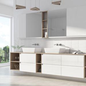 Moduo sprawdzi się zarówno małej, problematycznej łazience w bloku, jak i w zagospodarowaniu dużego salonu kąpielowego - od 149 zł za element. Fot. Cersanit