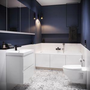Kolekcja Moduo dzięki swojemu klasycznemu designowi oraz tradycyjnej kolorystyce – bieli, szarości oraz elementom w kolorze dębu wkomponuje się zarówno do nowopowstałych pomieszczeń, jak i tych, które dopiero czekają na remont - od 149 zł za element. Fot. Cersanit