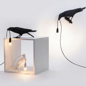 Lampy Birds. Producent: Seletti. Projekt: Marcantonio. Od ok. 555 zł (dostępna w wersjach outdoor i indoor, jako kinkiet lub stojąca)