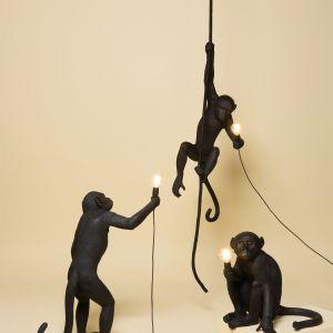 Lampy Monkey w czerni. Producent: Seletti. Projekt: Marcantonio. Ok. 1333 zł