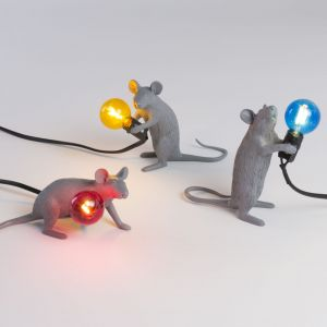 Lampy Mouse. Producent: Seletti. Projekt: Marcantonio. Od 339 zł (wersja z kolorowymi żarówkami)