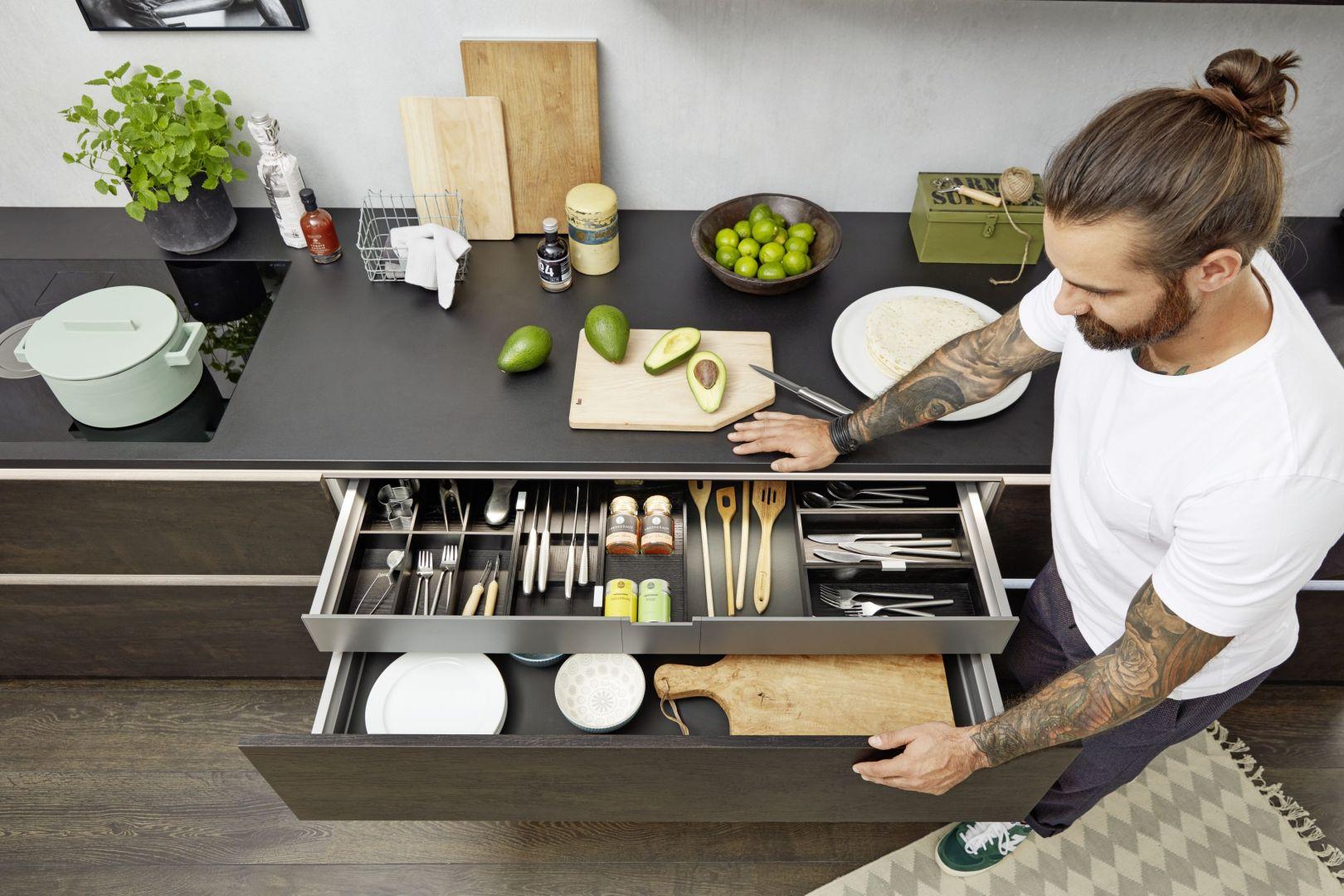 System szuflad wewnętrznych Nolte Kuchen. Wycena indywidualna.