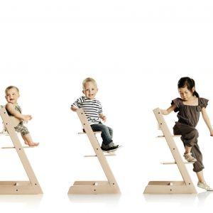 Krzesło Tripp Trapp rośnie razem z dzieckiem. Projekt: Peter Opsvik. 849 zł, Stokke