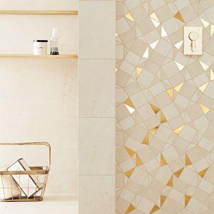 Wyróżnikiem kolekcji Plain Stone jest mozaika ścienna o nieregularnym kształcie i brokatowych elementach Jest ona dobrym rozwiązaniem dla osób, które lubią styl glamour i cenią eleganckie, luksusowe wnętrza. Plain Stone - 59,90 zł/szt.