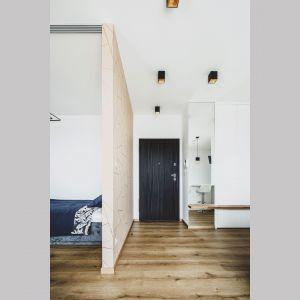 Wchodząc do mieszkania od razu znajdujemy się w strefie dziennej. Projekt i zdjęcia: Magdalena Opitek
