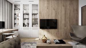 Apartament w stylu nowojorskim - gabinet. https://milkdesigns.pl/apartament_nowojorski.html