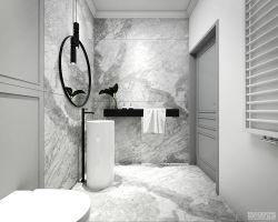 Apartament w stylu nowojorskim - łazienka. https://milkdesigns.pl/apartament_nowojorski.html