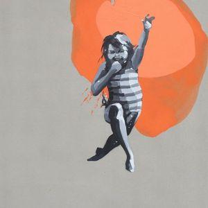 Magdalena Stano,  Pomarańczowy z cyklu  Zabawy, 120 x 80 cm, olej + akryl na płótnie, 2500 zł