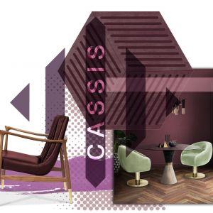 Głęboki odcień porzeczki sprawdzi się na meblach, ale i na ścianach. Fot. Essential Home