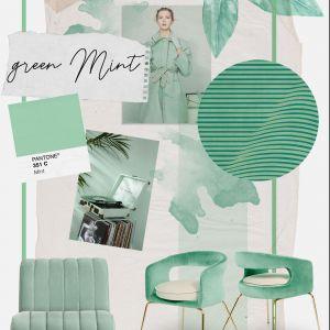Neo-mint - kolor miętowy to jeden z najgorętszych tegorocznych trendów kolorystycznych. Fot. Essential Home