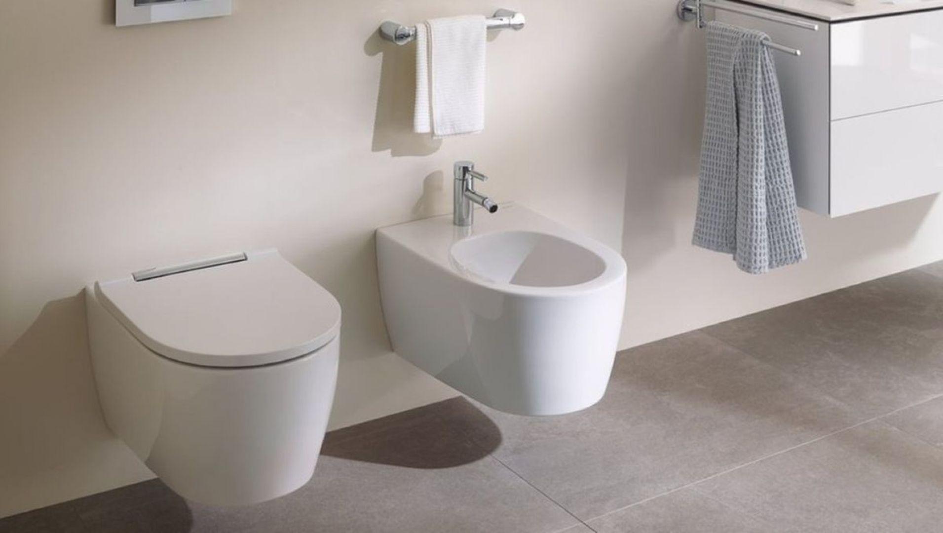Toaleta oraz bidet z kolekcji Geberit One są odpowiedzią na potrzebę zachowania higieny i zaostrzonego reżimu sanitarnego. Fot. Geberit