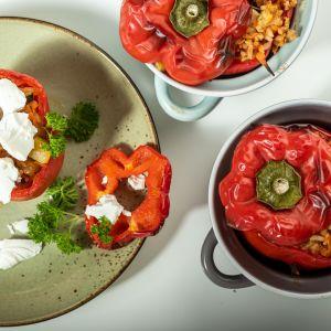Paprykę nadziewana warzywami i mięsem. Fot. Knorr
