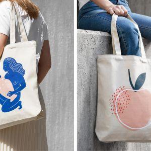 Grafika na torbie została zaprojektowana przez Desenio Design Studio. Wymiary: 38 x 40 x 8 cm, z dwoma długimi uchwytami. Cena 99 zt.