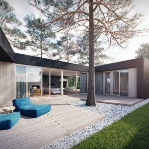 Dom z tarasami to projekt domu parterowego dla ludzi lubiących eksperymentować z przestrzenią. Projekt: Domy z Głową, Pracownia Architektury Głowacki