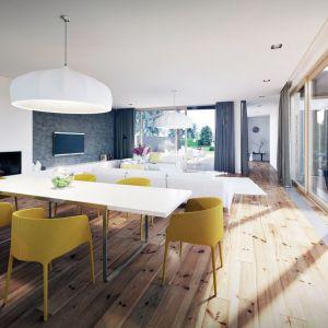 Duże przeszklenia są wielkim atutem tego nowoczesnego projektu. Projekt: Domy z Głową, Pracownia Architektury Głowacki