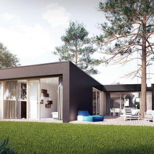 Dom z tarasami - dobry projekt dla właścicieli długich i wąskich działek. Projekt: Domy z Głową, Pracownia Architektury Głowacki