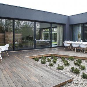 Dom z Tarasami - tak wygląda zrealizowany projekt domu. Projekt: Domy z Głową, Pracownia Architektury Głowacki