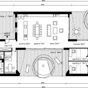 Projekt z Tarasami - układ wnętrza. Projekt: Domy z Głową, Pracownia Architektury Głowacki