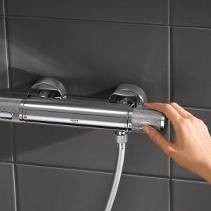 Bateria Grohe została wyposażona również w przycisk EcoButton pozwalający na zmniejszenie zużycia wody o 50%. Cena ok. 1.400 zł