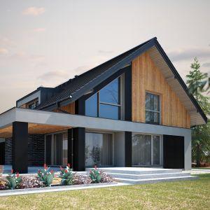 W projekcie przewidziano ogrzewania gazowe. Nazwa projektu: Tenemona 2. Projekt wykonano w Pracowni Domy w zieleni