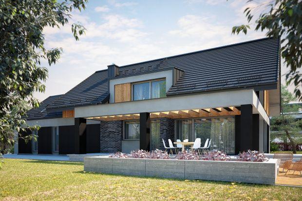Bardzo fajny projekt domu w nowoczesnym stylu. Bryła budynku prezentuje się niezwykle estetycznie, skrywa też wygodny układ wnętrza. Zobaczcie sami!