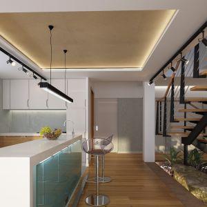 Układ wnętrza jest bardzo wygodny. Nazwa projektu: Tenemona 2. Projekt wykonano w Pracowni Domy w zieleni