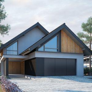 Minimalne wymiary działki do budowy domu to 20,5 m/30,9 m Nazwa projektu: Tenemona 2. Projekt wykonano w Pracowni Domy w zieleni