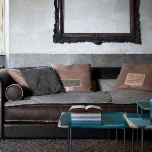 Sofa  Alfred Trench Special Edition. Obicie - skóra naturalna, rama - drewno jodłowe i topolowe. Projekt: Marco Milisich dla marki Baxter. cena odd ok. 88 tys. Fot. Baxter