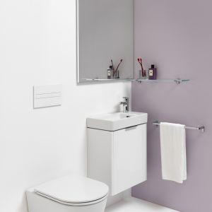 Kolekcja proponuje zestaw umywalki Pro S i szafki Base, który jest dostępny w wielu opcjach i rozmiarach. Fot. Laufen
