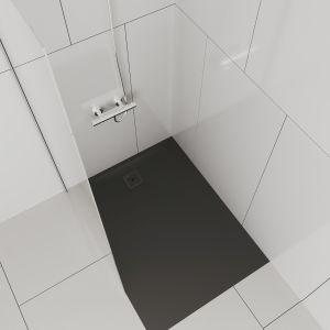 Zwolennikom szybkiego prysznica seria oferuje oryginalne brodziki z materiału Marbond. Fot. Laufen