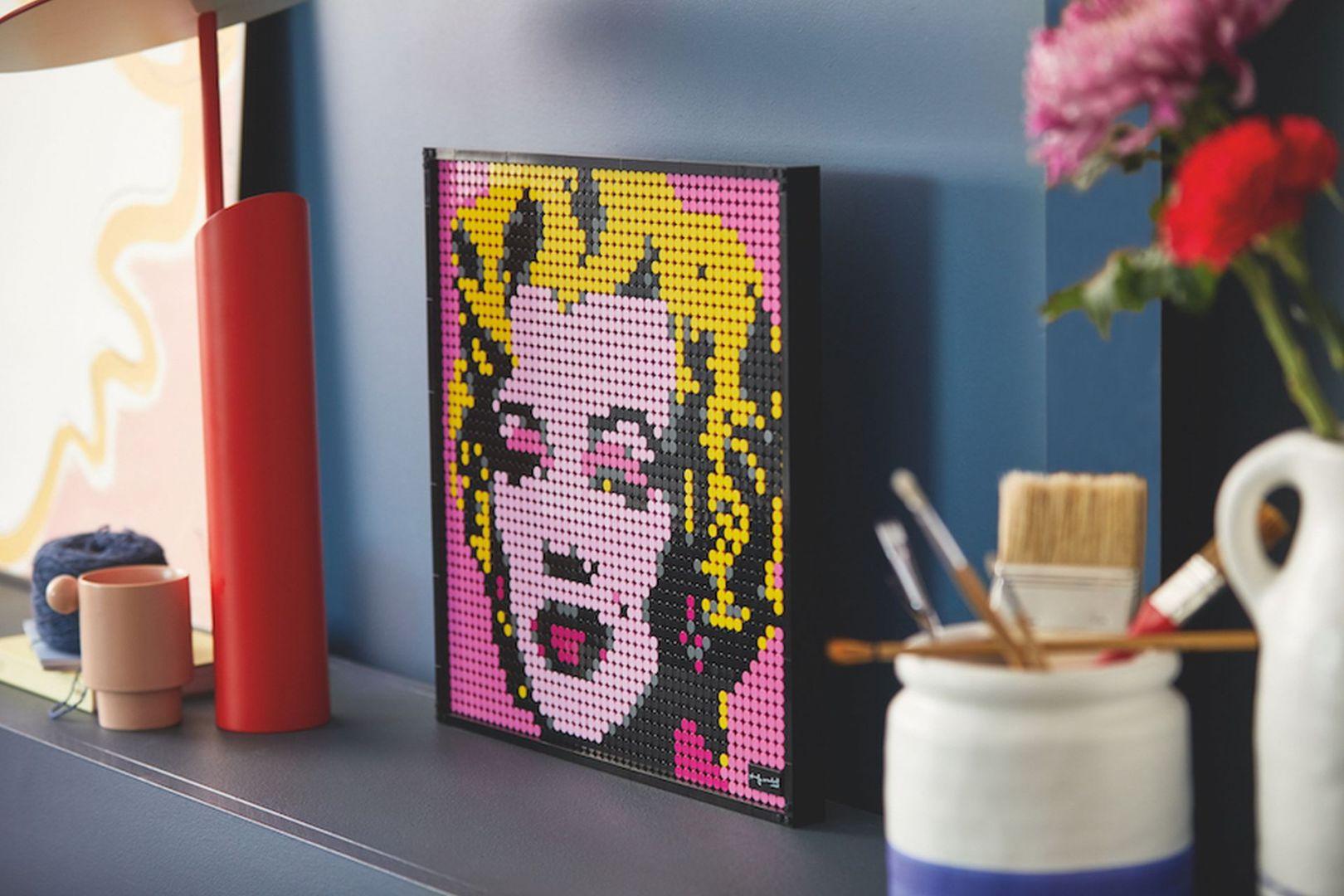 Marylin Monroe w klockach Lego. Cena pojedynczego zestawu to 549,99 zł. Fot. serwis prasowy Lego Art