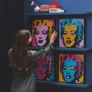 Kultowy obraz Andy'ego Warhola do przeniesienia na obraz z klocków Lego. Cena pojedynczego zestawu to 549,99 zł. Fot. serwis prasowy Lego Art