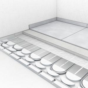 """Konstrukcja alternatywna: np. przy użyciu jastrychu cementowego i domieszki do jastrychu TECEfloor """"Spezial"""". Wysokość nadbudowy 60 mm plus warstwa wierzchnia. Fot. TECE"""
