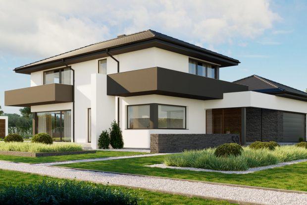 Toprzestronny dom jednorodzinny, nawiązujący stylistyką do charakterystycznej, podmiejskiej zabudowy willowej. Projekt łączy w sobie nowoczesny wygląd z bardzo komfortowymi wnętrzami.