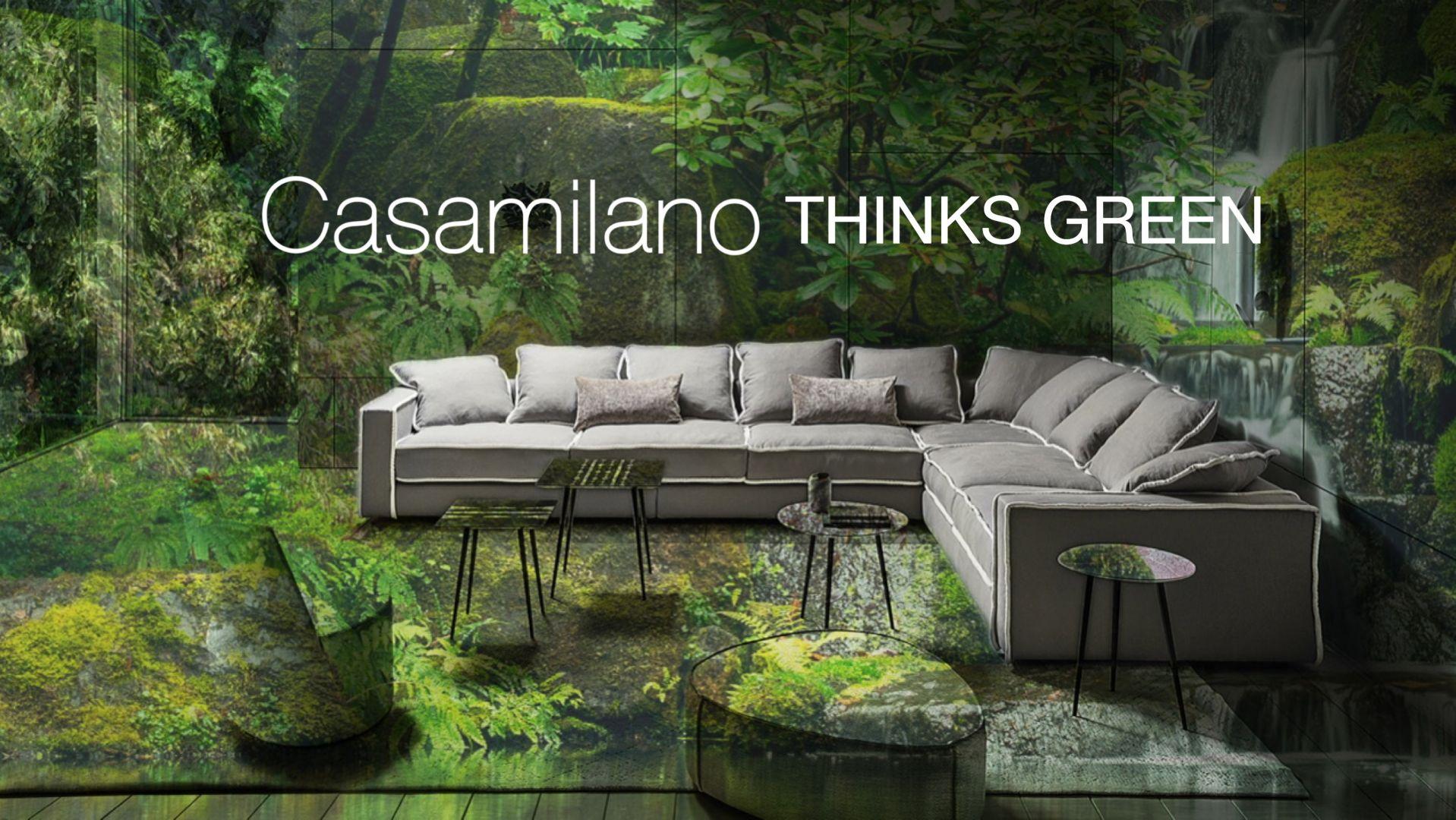 Modułowa kanapa Pillopipe Evo Green to projekt uznanej światowej designerki, Paoli Navone i część nowej kolekcji 2020 marki Casamilano. Fot. Casamilano