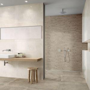 Podstawowe elementy ścienne dostępne są w dwóch rozmiarach oraz dwóch wersjach kolorystycznych – 30 x 60 cm i 33 x 100 cm w odcieniach white-grey i beige. Natomiast płytki podłogowe zostały zaprojektowane w rozmiarach: 30 x 30 cm, 30 x 60 cm, 60 x 60 cm, 80 x 80 cm i 40 x 80 cm.