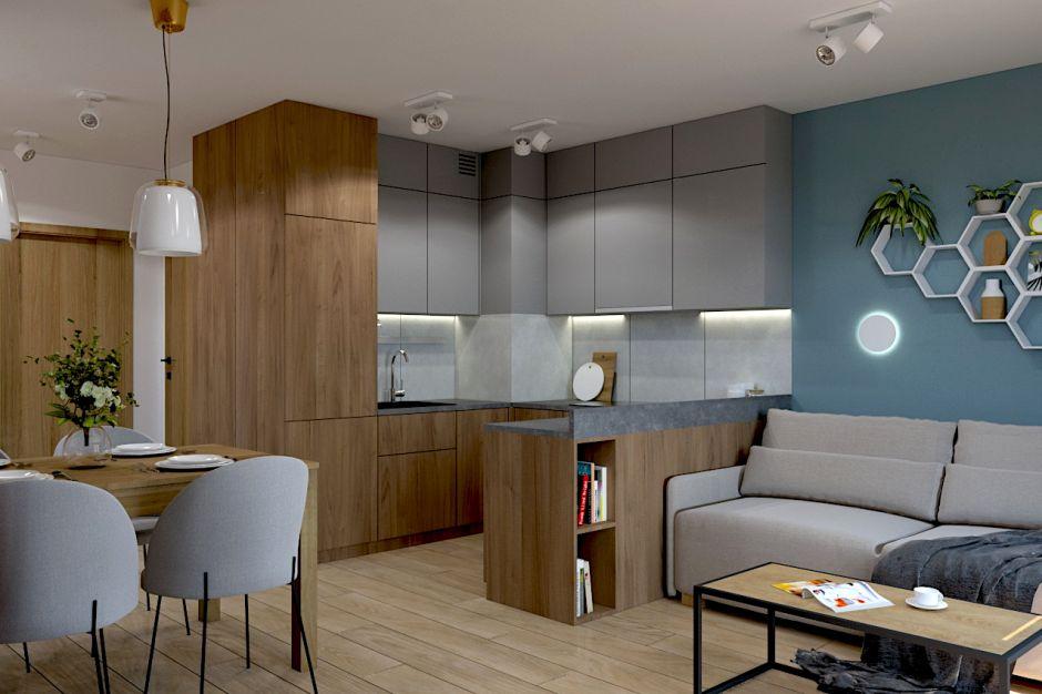Mieszkanie z industrialnymi akcentami