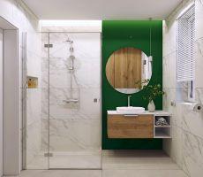 Łazienka z zielenią