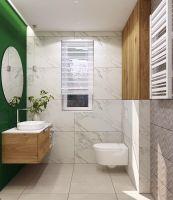 Łazienka z zielonym akcentem