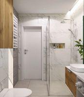 Łazienka z płytkami 3d