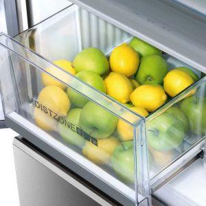 We wnętrzu urządzenia chłodniczego występuje stratyfikacja termiczna i to właśnie na tej podstawie powinniśmy rozmieszczać żywność w lodówce. Zgodnie z zaleceniami producentów sprzętu na górnej półce powinniśmy przechowywać takie produkty jak dżemy i powidła, a także mleko, kefiry i jogurty. Fot. Haier