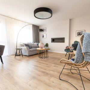 Salon po home stagingu źródło Domo+ Lifting Wnętrz z Marią Semczyszyn.