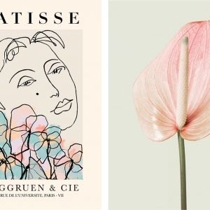 Sztuka abstrakcyjna pasuje do każdego domu! Idealny wybór, jeśli chcesz dodać odrobinę koloru do swoich wnętrz. Cena 69 zł (plakat inspirowany sztuką Matisse'a 30x40 cm). Fot. Desenio.pl