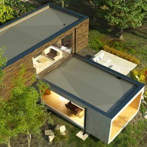Na dachu płaskim możemy posadzić zarówno zieleń o bardzo małych wymaganiach, jak mchy i rozchodniki, jak też nasadzenia przypominające normalny ogród, łącznie z wysokimi krzewami, a nawet drzewami. Fot. Galeco