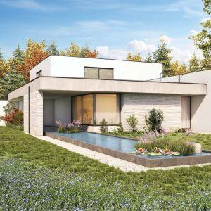 Jeśli nie chcemy wykonywać pokrycia w formie zielonego dachu, rośliny można wprowadzić na użytkową przestrzeń płaskiego dachu w dużych donicach. Fot. Galeco