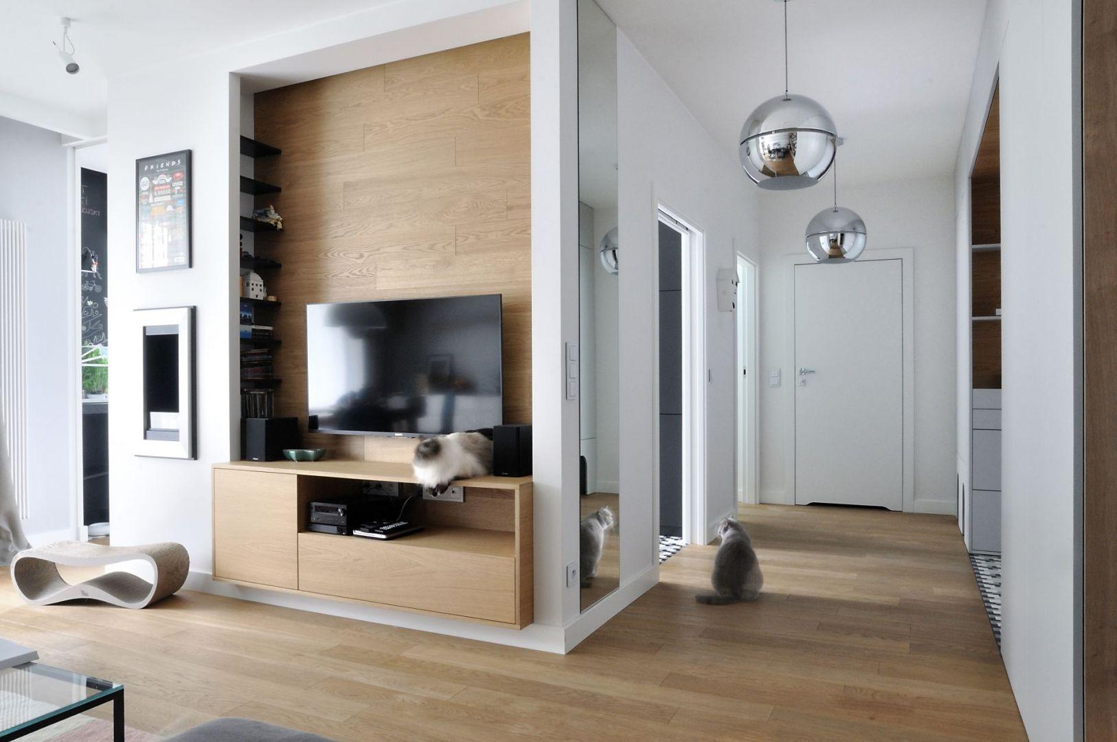 Niewielkie mieszkanie w Gdyni. Projekt: Cats&Dogs,  Ministerstwo Spraw We Wnętrzach Magdalena i Marcin Konopka. Fot. Marcin Konopka